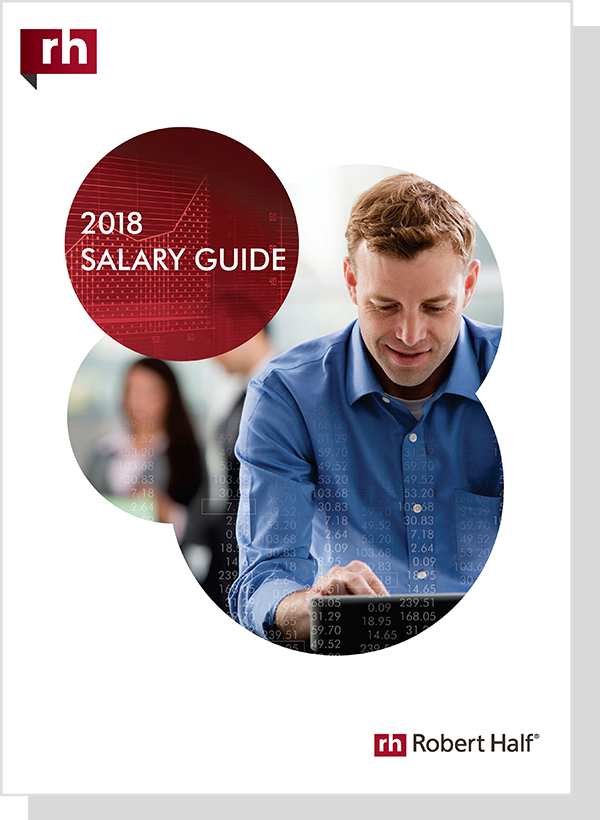 The cover of the Robert Half Salary Guide 2018.<br />